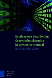 De Algemene Verordening Gegevensbescherm Sloot, Bart van der