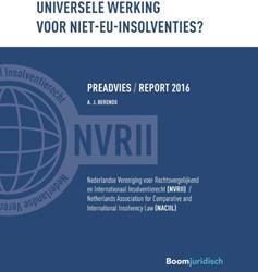 Universele werking voor niet-EU-insolven -nVRII preadvies 2016