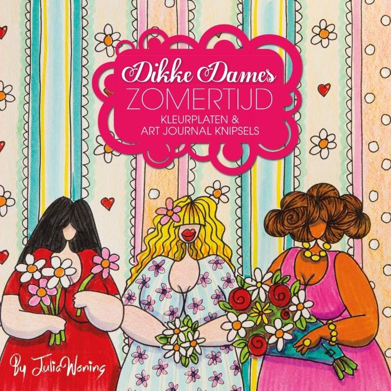 Dikke Dames Zomertijd Kleurplaten Art Journal Sels Woning Julia
