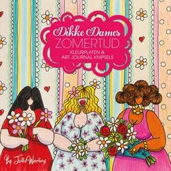 Dikke Dames zomertijd -kleurplaten & art journal sels Woning, Julia