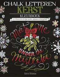 Chalk letteren Kerst kleurboek -in te kleuren met alle typen m arkers, gelpennen en kleurpotl McKeehan, Valerie