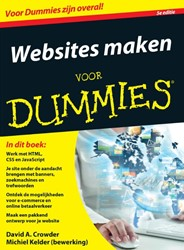 WEBSITES MAKEN VOOR DUMMIES, 5E EDITIE CROWDER, DAVID A.