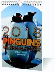 WEEKKALENDER 2018 GROOTLETTER PINGUINS /