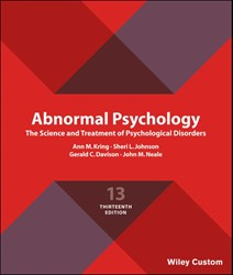 Abnormal Psychology -The Science and Treatment of P sychological Disorders Kring, Ann