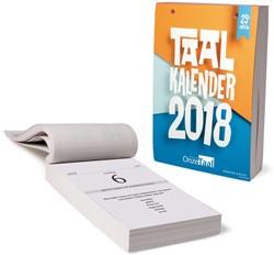 Onze Taal scheurkalender 2018 KALENDER/AGENDA 2018