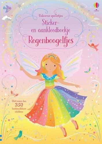Regenboogelfjes -Sticker- en aankleedboek