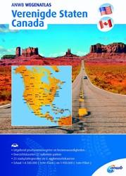 Wegenatlas Verenigde Staten/ Canada ANWB