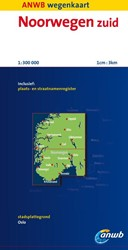 ANWB wegenkaart : Noorwegen Zuid -schaal 1:300.000