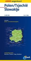 ANWB wegenkaart : Polen Tsjechie Slowaki -schaal 1:800.000