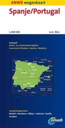 ANWB wegenkaart : Spanje, Portugal -schaal 1:800.000