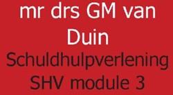 SCHULDHULPVERLENING SHV MODULE 3 -COMMUNICATIE EN COACHING DUIN, G.M. VAN