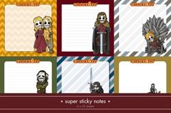 Calaveritas Medieval sticky notes