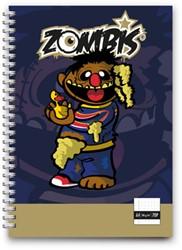Calaveritas Zombis notebook A4