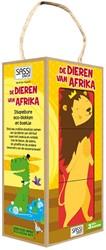 Sassi - De dieren in Afrika -stapelbare eco-blokken en boek je