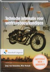 Technische informatie  voor werktuigbouw -overzichten, gegeven en tabell en Gemerden, J. van