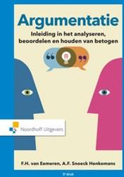 Argumentatie -inleiding in het analyseren en beoordelen van betogen Eemeren, F.H. van