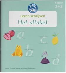 Leren schrijven - Het alfabet in bloklet -Leer blokletters schrijven