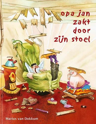 Opa Jan zakt door zijn stoel Dokkum, Marius van