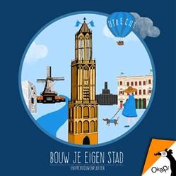 Okapi Bouw je eigen stad Utrecht (set va -knippenvouwenplakken Veltkamp, Femke