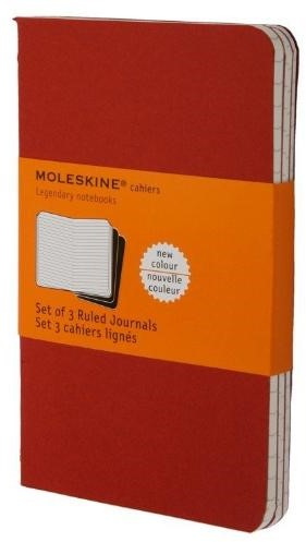 Moleskine Ruled Cahier ( set of 3) Cranb