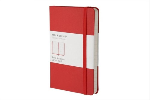 Moleskine Pocket Ruled Notebook Red -Nmmm710r IMMM710R Red