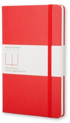 Moleskine Large Plain Notebook Red -Nmqp062r IMQP062R Red