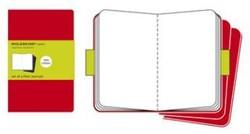 Moleskine Plain Cahier - Red Cover (3 Se