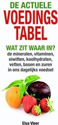 De actuele voedingstabel -Wat zit waar in? de mineralen, vitaminen,eiwitten, koolhydra Vleer, Elsa