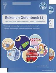 Rekenen Oefenboek delen 1 en 2 geschikt -geschikt voor de LVS-toetsen e n Entreetoets van het Cito
