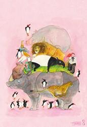Posters Springende pinguins en lachende