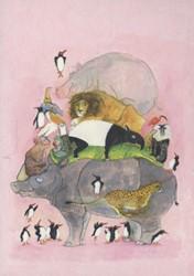 Ansichtkaarten Springende pinguins en la