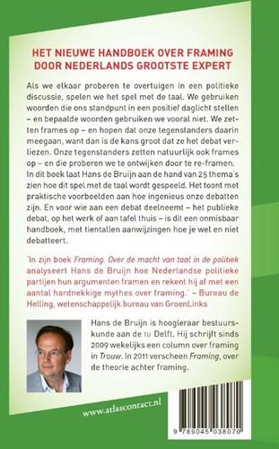 Handboek Framing -het spel met de taal Bruijn, Hans de-2