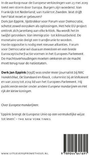 Europees realisme -Voor een Europa van natiestate n Eppink, Derk-Jan-2