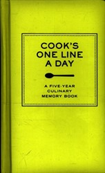 *Cook's One Line a Day -A Five-year Culinary Memory Bo ok CHRONICLE