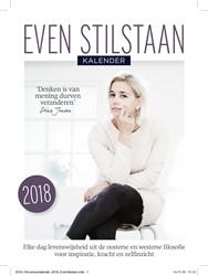 Even stilstaan kalender 2018 -elke dag levenswijsheid uit de oosterse en westerse filosofi Jensen, Stine