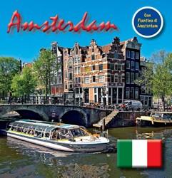 Amsterdam 15x15 cm Italiaanse Editie inc -testo Italiano Loo, Bert van