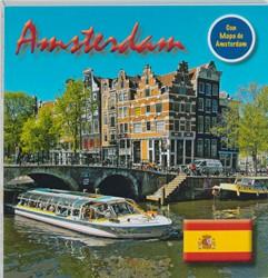 Amsterdam 15x15 cm Spaanse Editie incl. -texto Espanol Loo, Bert van