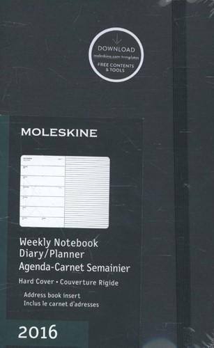 2016 Moleskine 12 month planner - weekly -1 We = 1 page paars