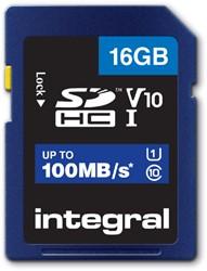 GEHEUGENKAART INTEGRAL SDHC V10 16GB -GEHEUGENKAARTEN INSDH16G-100V10 KABELGELEIDER CASE LOGIC RECHT 150CM