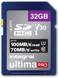 GEHEUGENKAART INTEGRAL SDHC V30 32GB -GEHEUGENKAARTEN INSDH32G-100/70V30 NOTEBOOKTAS CASE LOGIC TOPLOAD 15.4&quot