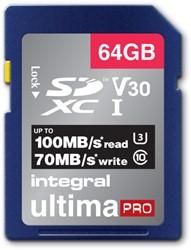 GEHEUGENKAART INTEGRAL SDHC V30 64GB -GEHEUGENKAARTEN INSDX64G-100/70V30 NOTEBOOKTAS CASE LOGIC TROLLEY 15.4&quot