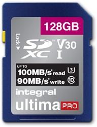 """GEHEUGENKAART INTEGRAL SDHC V30 128GB -GEHEUGENKAARTEN INSDX128G-100/90V30 LAPTOPTAS CASE LOGIC SHUTTLE 13"""" BL"""