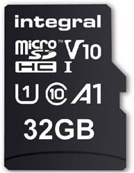 GEHEUGENKAART INTEGRAL MICRO V10 32GB -GEHEUGENKAARTEN INMSDH32G-100V10 ETUI CASE LOGIC NAVIGATIESYSTEEM 15X9.5X