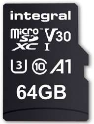 "GEHEUGENKAART INTEGRAL MICRO V30 64GB -GEHEUGENKAARTEN INMSDX64G-100/70V30 NOTEBOOKTAS CASE LOGIC 15.4"" + EXTR"