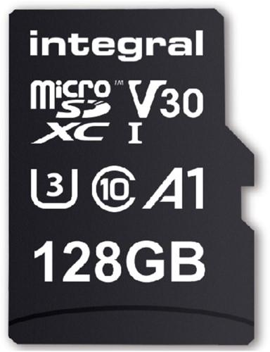 "GEHEUGENKAART INTEGRAL MICRO V30 128GB -GEHEUGENKAARTEN INMSDX128G-100/90V30 Notebooktas case logic 15.4"" rugzak"