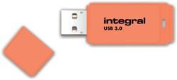 USB-STICK INTEGRAL 64GB 3.0 NEON ORANJE -USB STICKS INFD64GBNEONOR3.0 BUSINESSTAS BOSBOOM GRANTOR HUNTER NATUR
