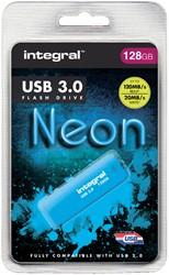 USB-STICK INTEGRAL 128GB 3.0 NEON BLAUW -USB STICKS INFD128GBNEONB3.0