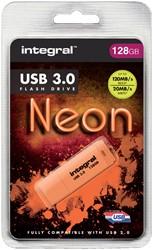 USB-STICK INTEGRAL 128GB 3.0 NEON -USB STICKS INFD128GBNEONOR3.0 ORANJE