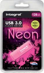 USB-STICK INTEGRAL 128GB 3.0 NEON ROZE -USB STICKS INFD128GBNEONPK3.0