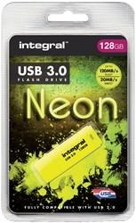 USB-STICK INTEGRAL 128GB 3.0 NEON GEEL -USB STICKS INFD128GBNEONYL3.0 PALMTOPCOMPUTE